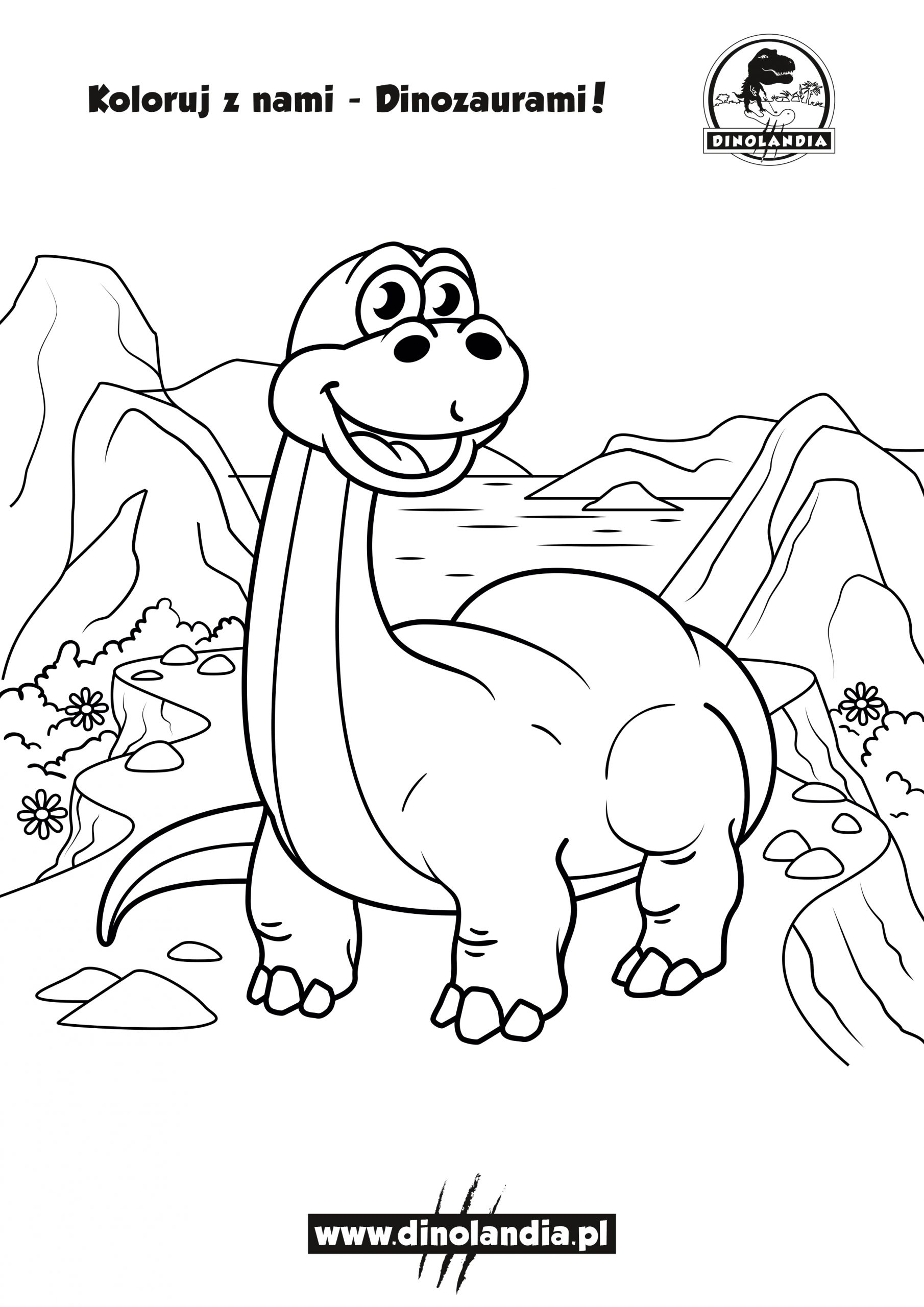 Kolorowanki z Dinozaurami